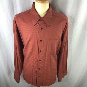 6A by Axis Mens Brown XXL Dress Shirt in EUC